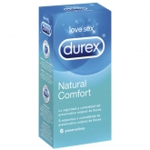 Durex Natural Plus Rubber Latex 6 Condoms