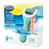 Scholl Velvet Smooth Wet And Dry Lima Pies Recargable, 1 Unidad