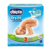 Chicco Dry Fit Size 3 4-9kg 21 Units