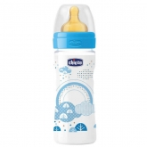 Chicco Well-Being Rubber Baby Bottle PP Medium Flux Blue 2m+ 250ml