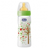 Chicco Well-Being Latex Baby Bottle PP Fast Flux Green 4m+ 330ml