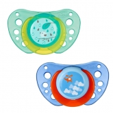 Chicco Physio Air Rubber Pacifier Blue 12m+ 2 Units