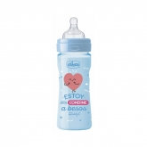 Chicco Well-Being Mr Wonderful Silicone Baby Bottle Blue 2m+ 250ml