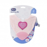 Chicco Gummy Bib Teething Ring with Bib 2 In 1 Pink 2m+