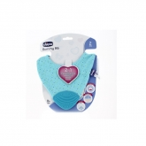 Chicco Gummy Bib Teething Ring with Bib 2 In 1 Blue 2m+