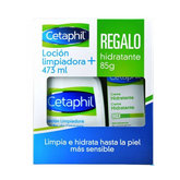 Cetaphil Cleansing Lotion 473ml + Moisturizing Gift 85g