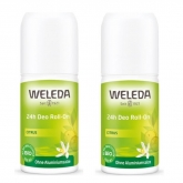 Weleda 24h Deodorant Citrus Roll-On 2x50ml