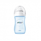 Avent Biberón Natural Azul Scf695/17 260ml 1m+