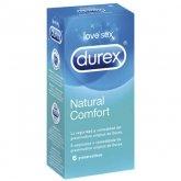 Durex Natural Plus Rubber Latex 6 Condoms