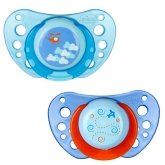 Chicco Physio Air Rubber Pacifier Blue 6-12m 2 Units